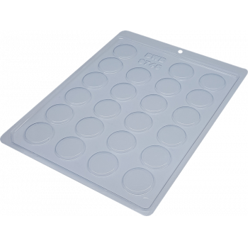 Forma de Acetato Plaquinha Redonda Lisa 3cm N9745 - BWB