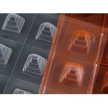 Forma Prática com Silicone Mini Bolo Quadrado N34 Suíça