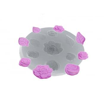 Molde de Silicone Bouquet Rosinhas 115 - Flexarte