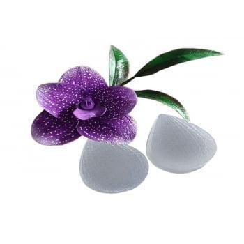 Molde de Silicone Pétala Orquídea 538 - Flexarte