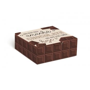 Caixa Maleta 8,5x8,5x3,5 cm - Chocolate - Cromus