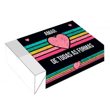 Caixa para 6 Doces 12x8x3,5 cm - Amar de Todas as Formas