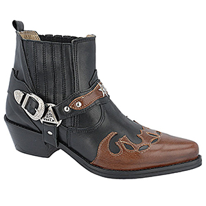 Botas Country Masculinas - 9066whiskyselvagem/preto