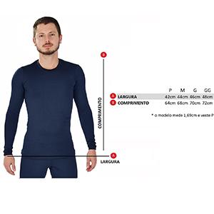 Blusa Térmica Masculina Segunda Pele - Azul Marinho