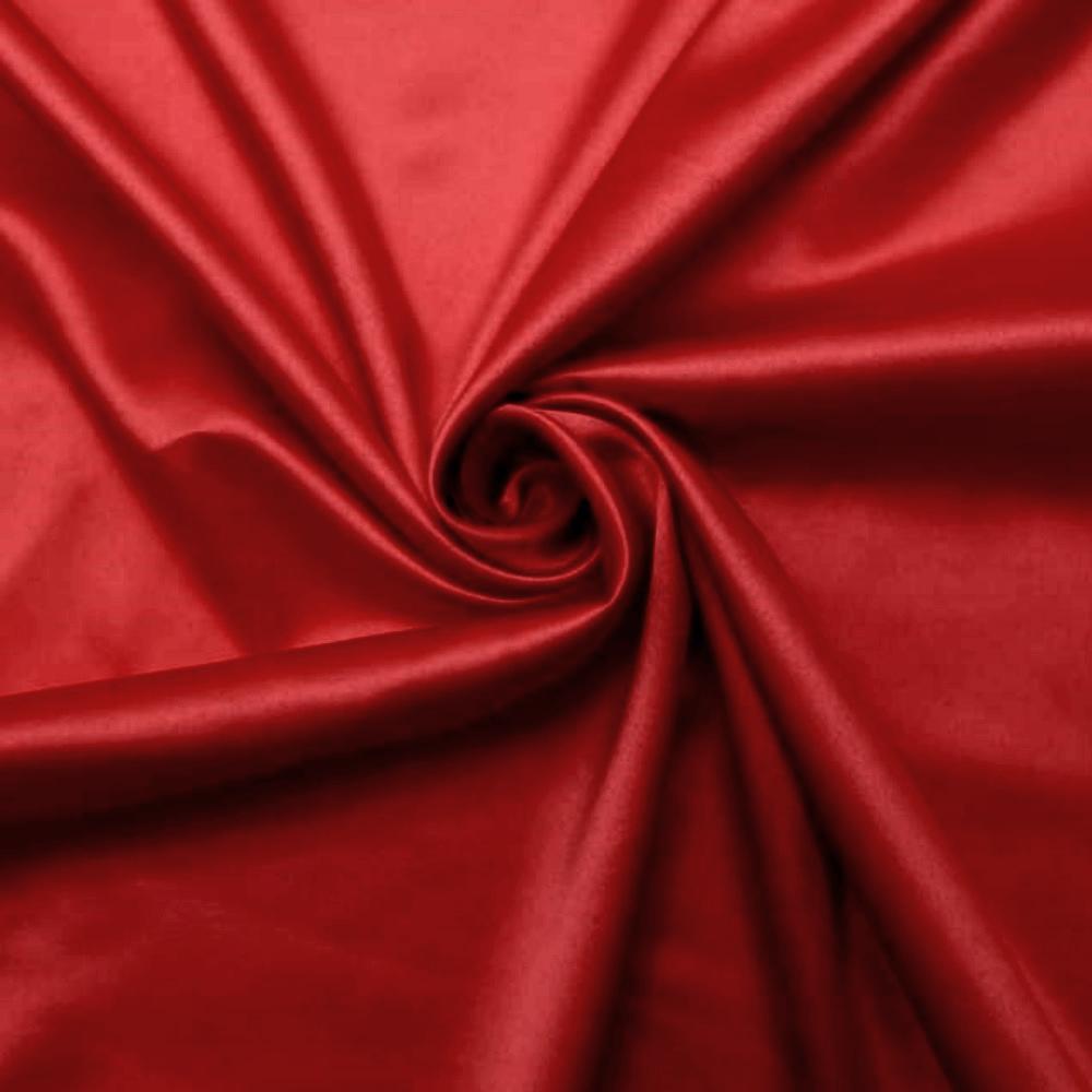 Tecido Cetim Liso Vermelho • Tecido Cetim