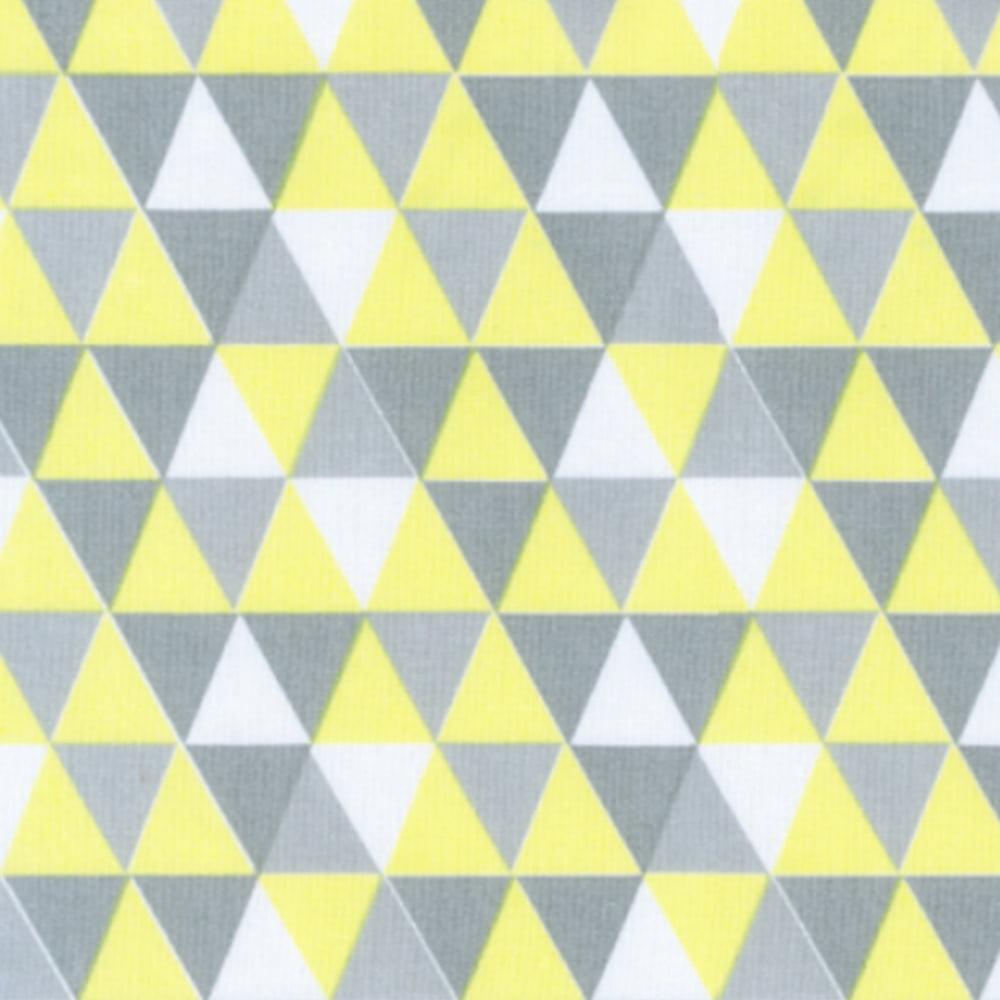 Tricoline Losangos Amarelo e Cinza S166-3 • Tecido Tricoline Estampado