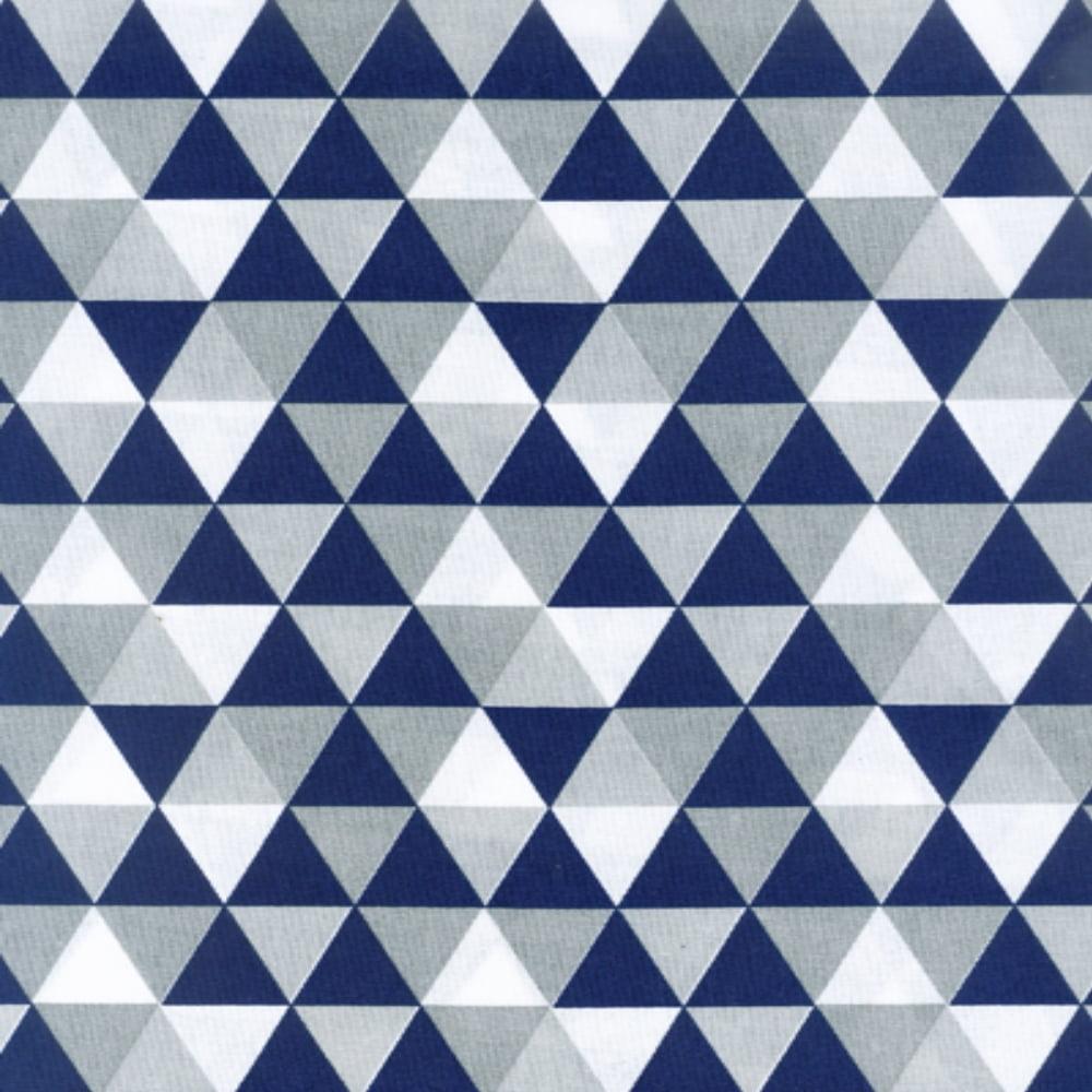 Tricoline Losangos Azul e Cinza S166-1 TECIDO TRICOLINE ESTAMPADO