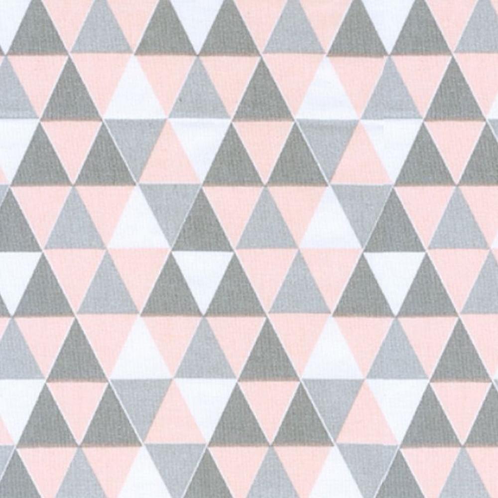 Tricoline Losangos Rosa e Cinza S166-2 • Tecido Tricoline Estampado