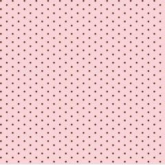 Tricoline Bolinhas Micro P1002-84 Rosa com Marrom