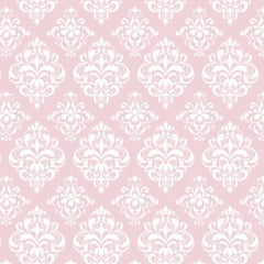 Tricoline Estampado Arabesco Rosa S1514-3 • Tecido Tricoline Estampado