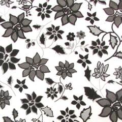 Tricoline Estampado Flores PB S12850-1 • Tecido Tricoline Estampado