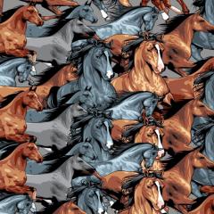 Tricoline Digital Cavalos P9013-02
