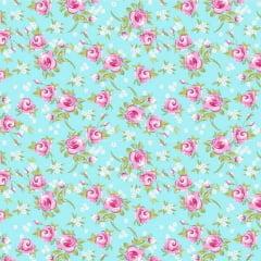 Tricoline Estampado Floral Miosotis S143-1 Tiffany TECIDO TRICOLINE ESTAMPADO