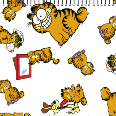 Tricoline Personagens Garfield GA006C01 • Tecido Tricoline Estampado