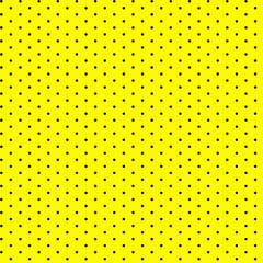 Tricoline Bolinhas Micro P1002-114 Amarelo com Preto