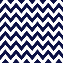 Tricoline 100% algodão Zig Zag Chevron Azul Marinho DX1676-09 TECIDO TRICOLINE ESTAMPADO