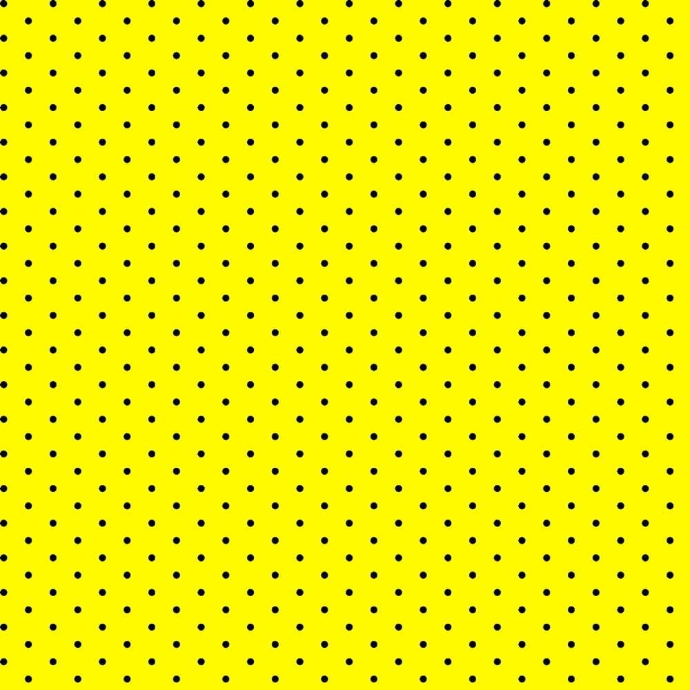 Tricoline Bolinhas Micro P1002-114 Amarelo com Preto - Bolinhas • Poás