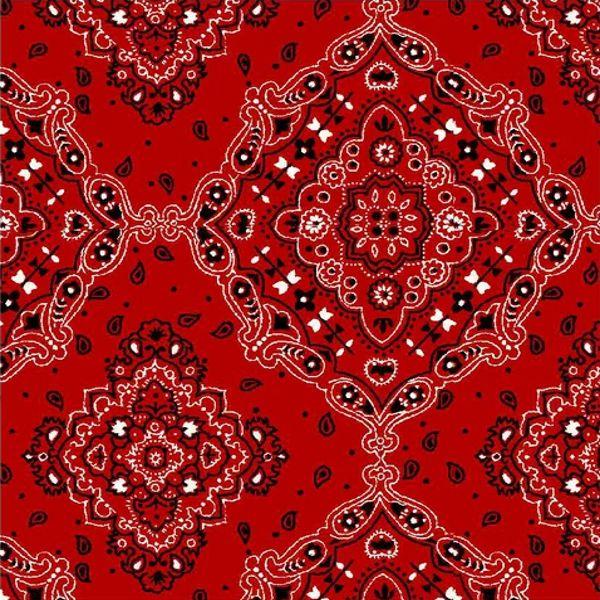 Tricoline Bandana Vermelha DX2272-03 - Bandanas