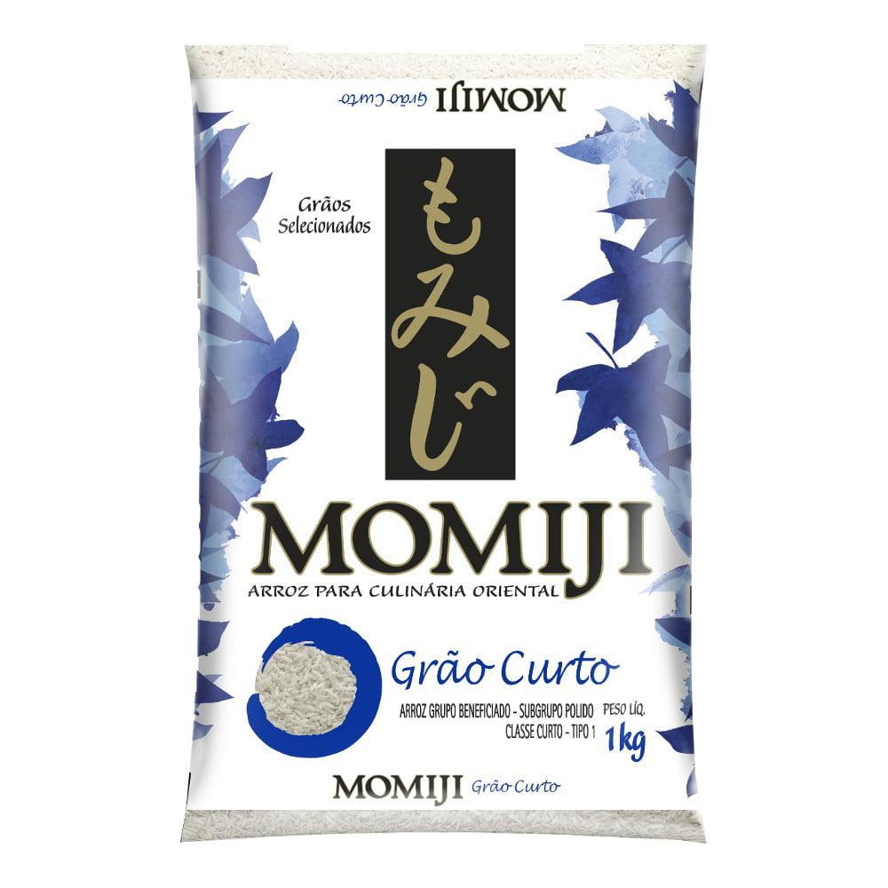 Arroz Japonês Momiji Curto - 1Kg