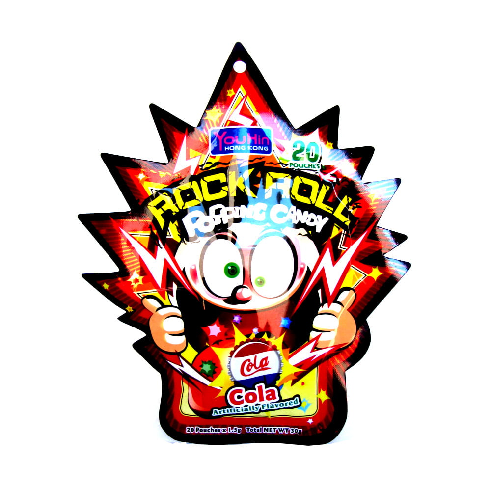 Bala Explosiva Sabor Cola Rock Roll Popping Candy - 30 gramas