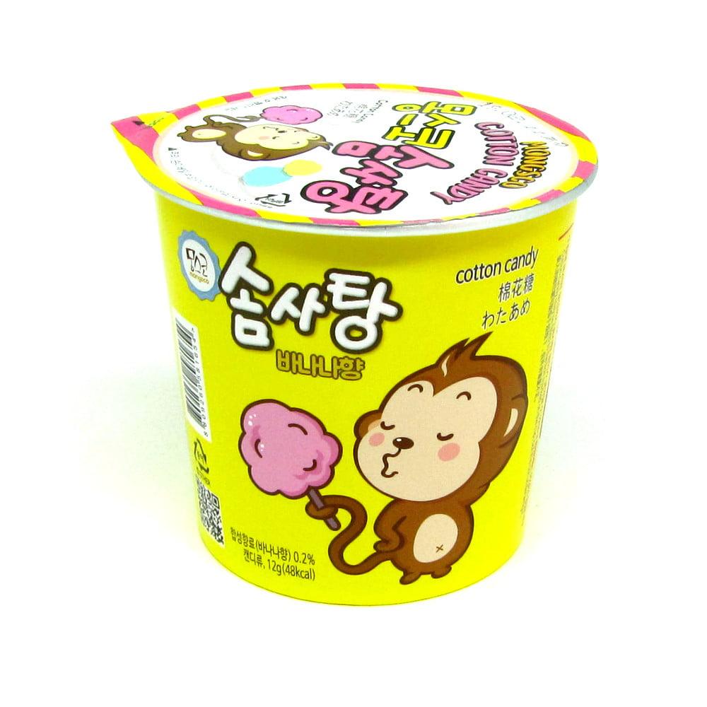 Algodão Doce Coreano Sabor Banana HT Mongsco – 12 Gramas