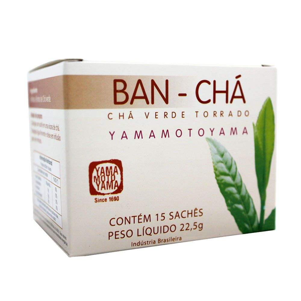 Banchá Chá Verde Torrado Natural Yamamotoyama - 15 sachês 30 gramas