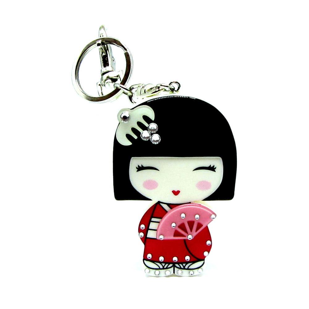 Chaveiro Celular da boneca Kokeshi - Acrílico