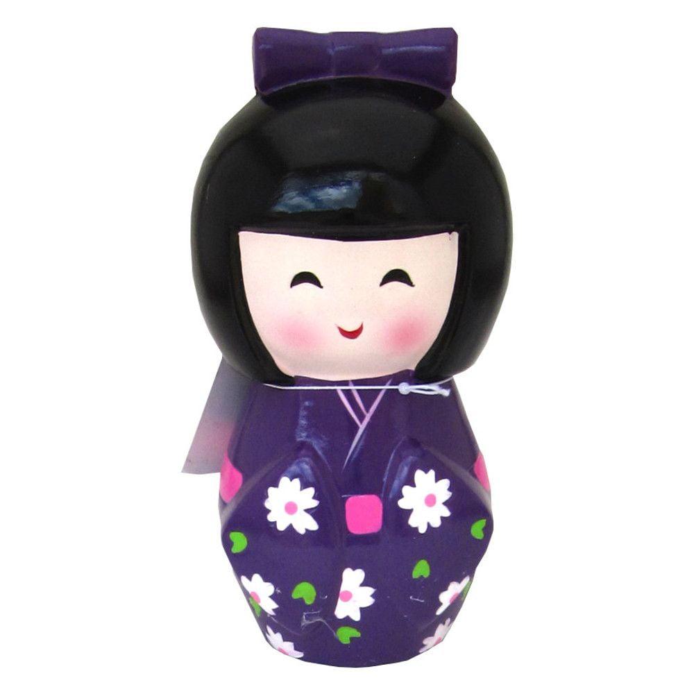 Cofre formato Boneca Japonesa Kokeshi - Roxa