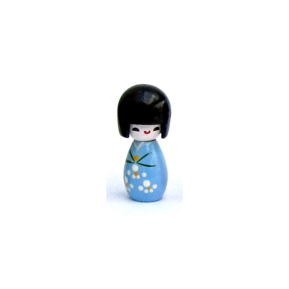 Imã da boneca Japonesa Kokeshi - Azul