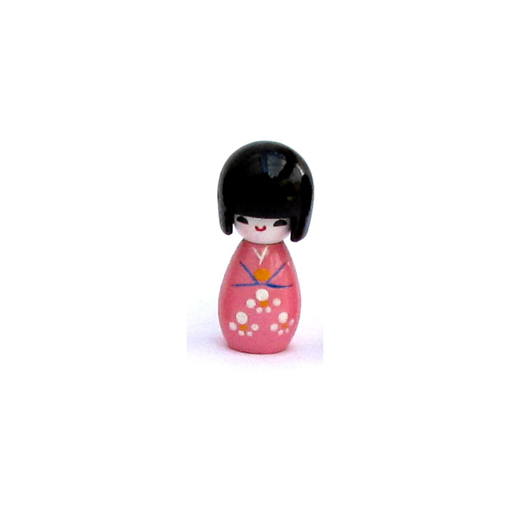 Imã da boneca Japonesa Kokeshi - Rosa