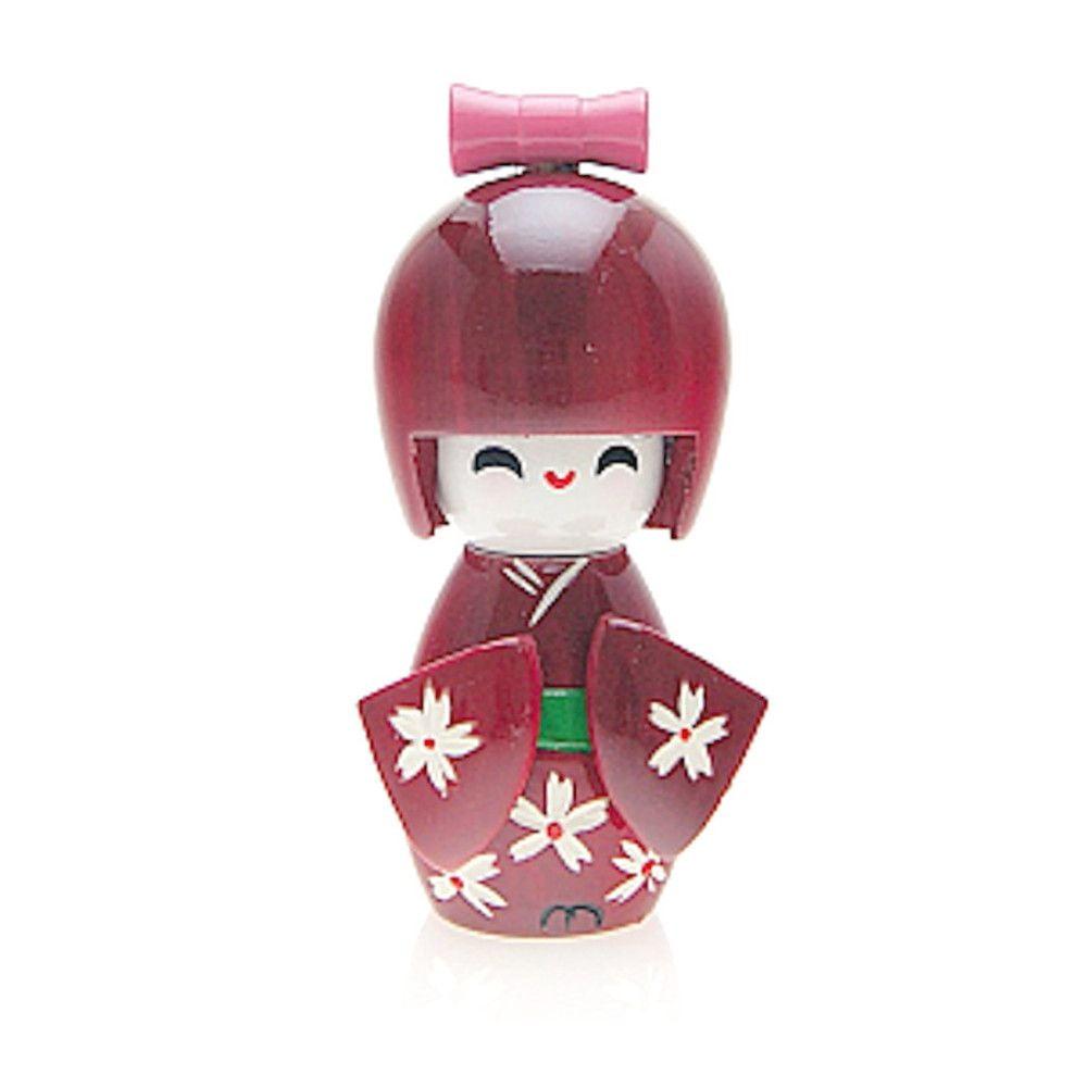Boneca Japonesa Kokeshi  Vinho (9cm) - KPVM