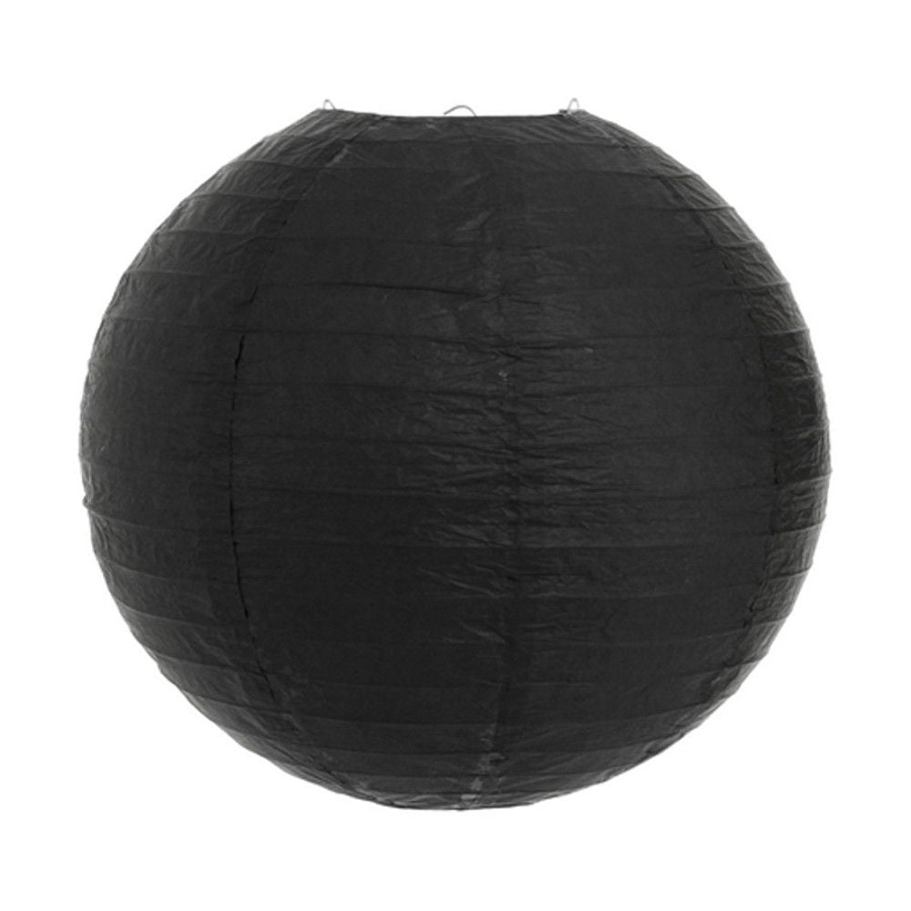 Luminária Oriental Preta Lisa - 40 cm