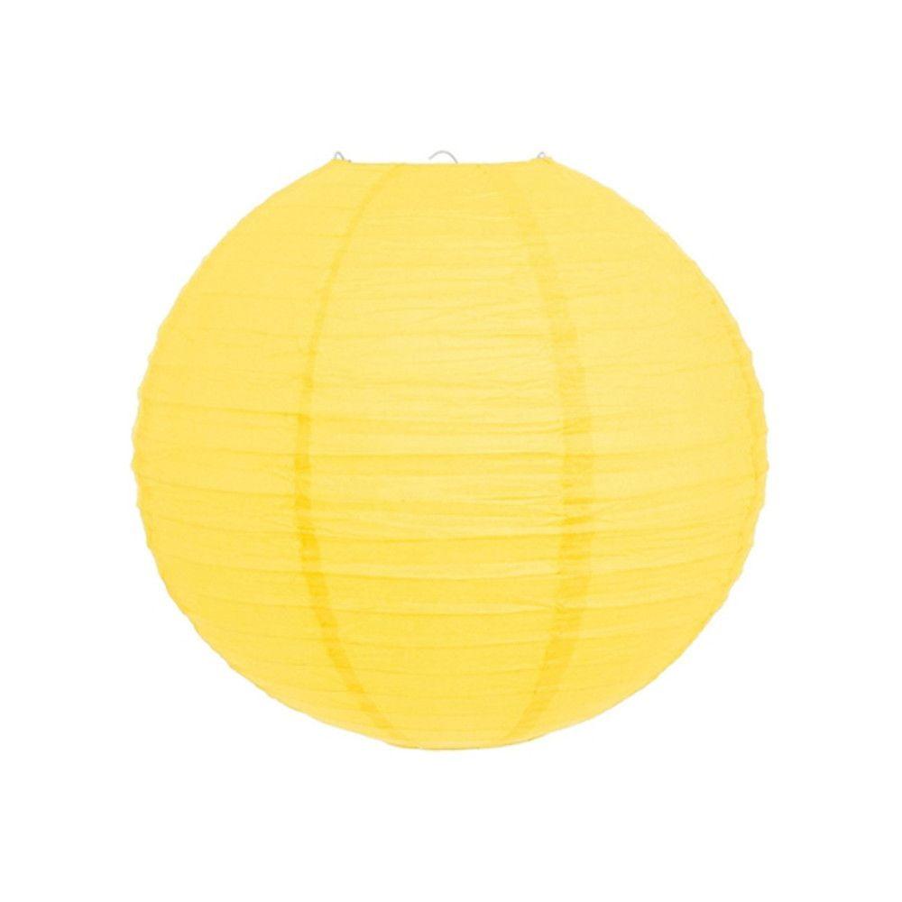 Luminária Oriental Amarela Lisa - 30 cm