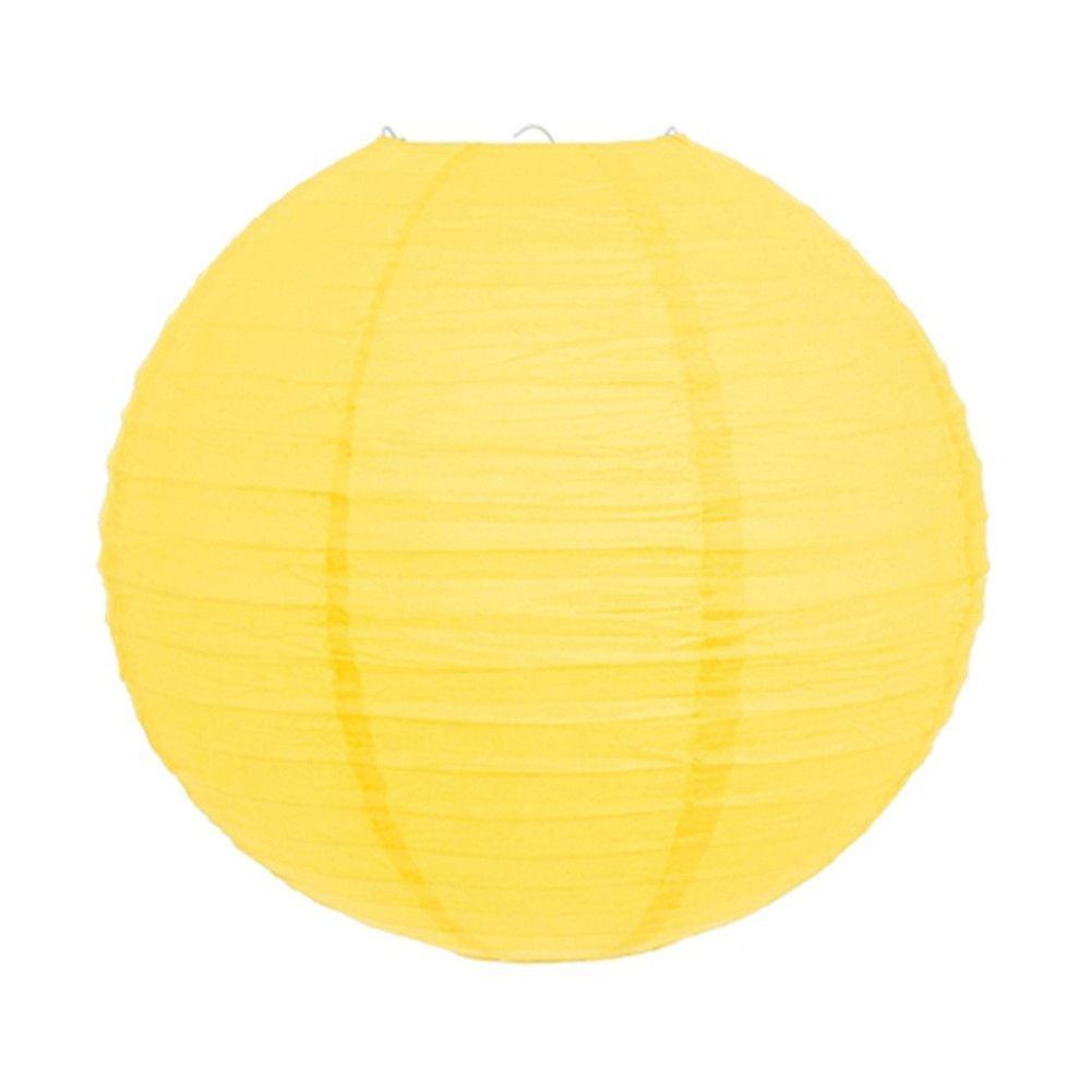 Luminária Oriental Amarela Lisa - 40 cm