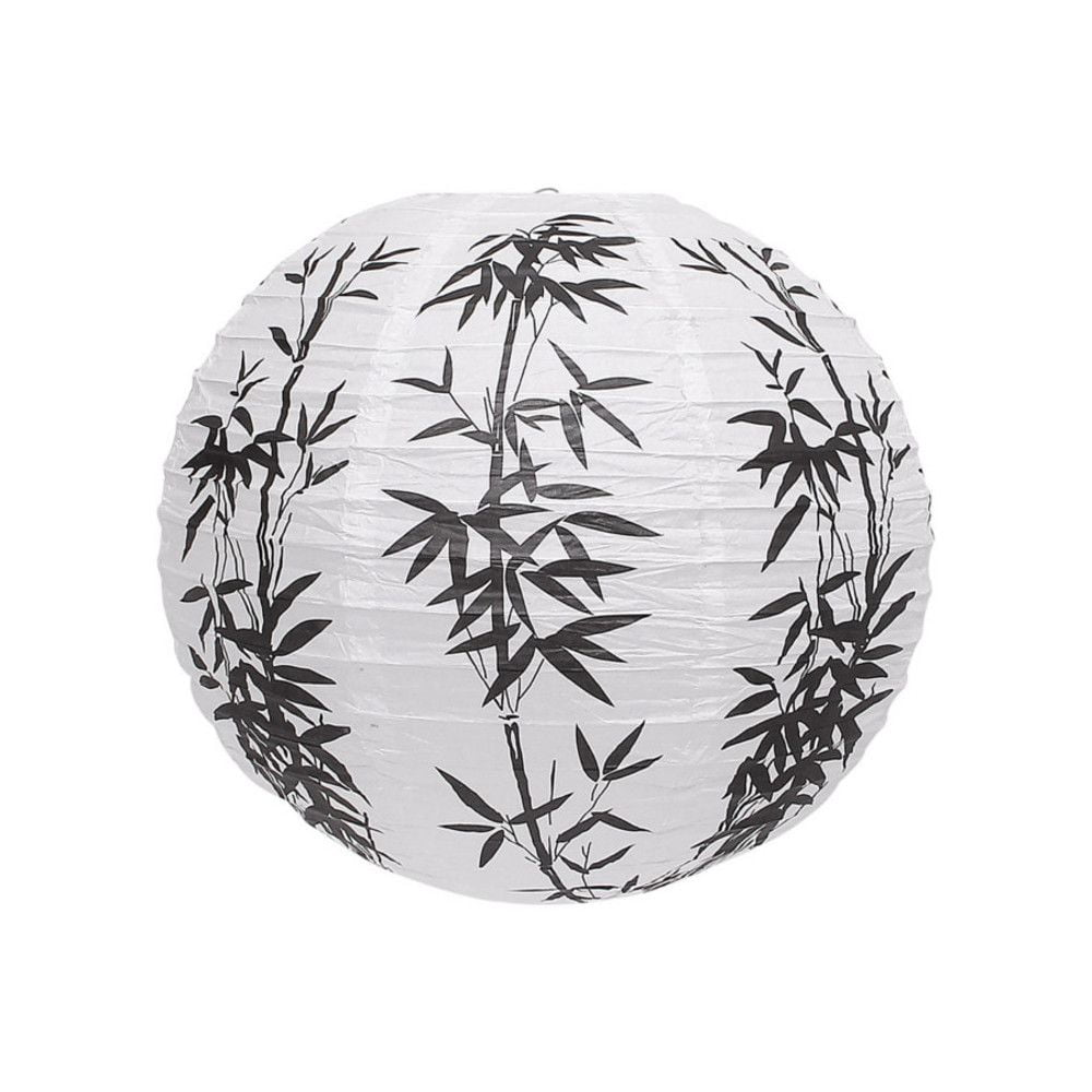Luminária Oriental Bambu Branca - 30 cm