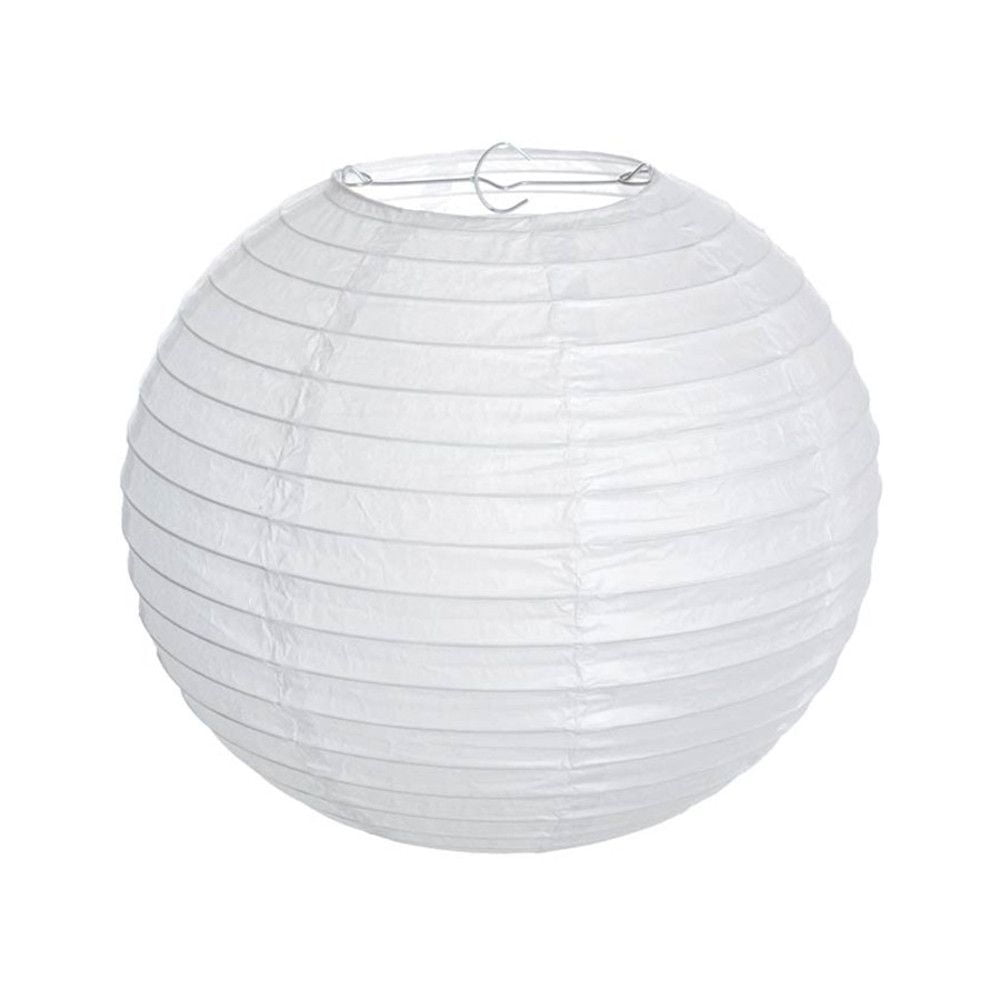 Luminária Oriental Branca Lisa - 35 cm