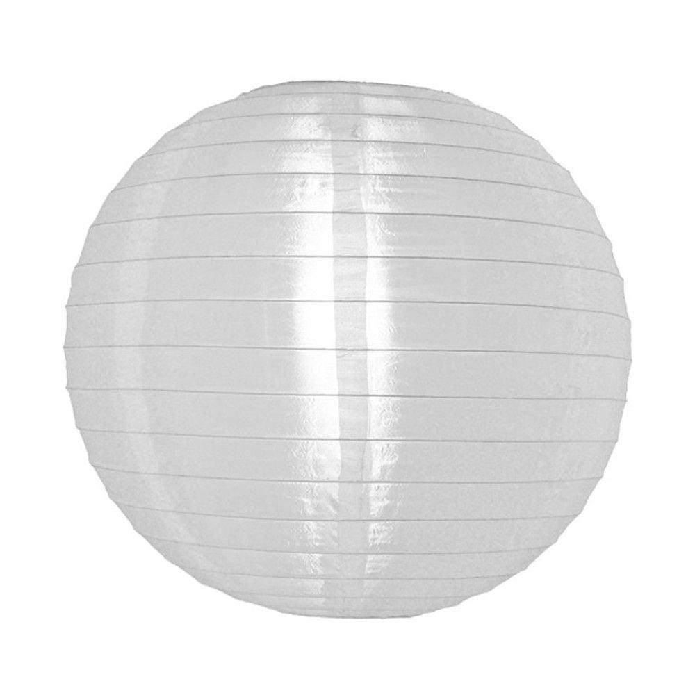 Luminária Oriental Branca Nylon - 40 cm