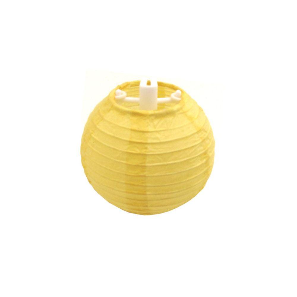 Luminária Oriental Mini Amarela Lisa - 7,5 cm