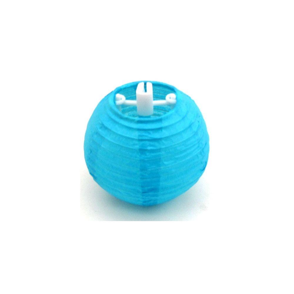 Luminária Oriental Mini Azul Lisa - 7,5 cm