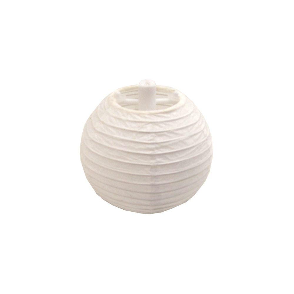 Luminária Oriental Mini Branca Lisa - 7,5 cm