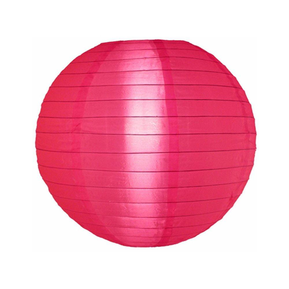 Luminária Oriental Rosa Pink Nylon - 35 cm