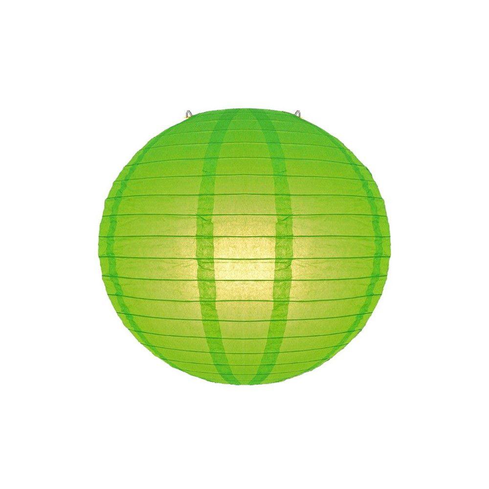 Luminária Oriental Verde Lisa - 20 cm