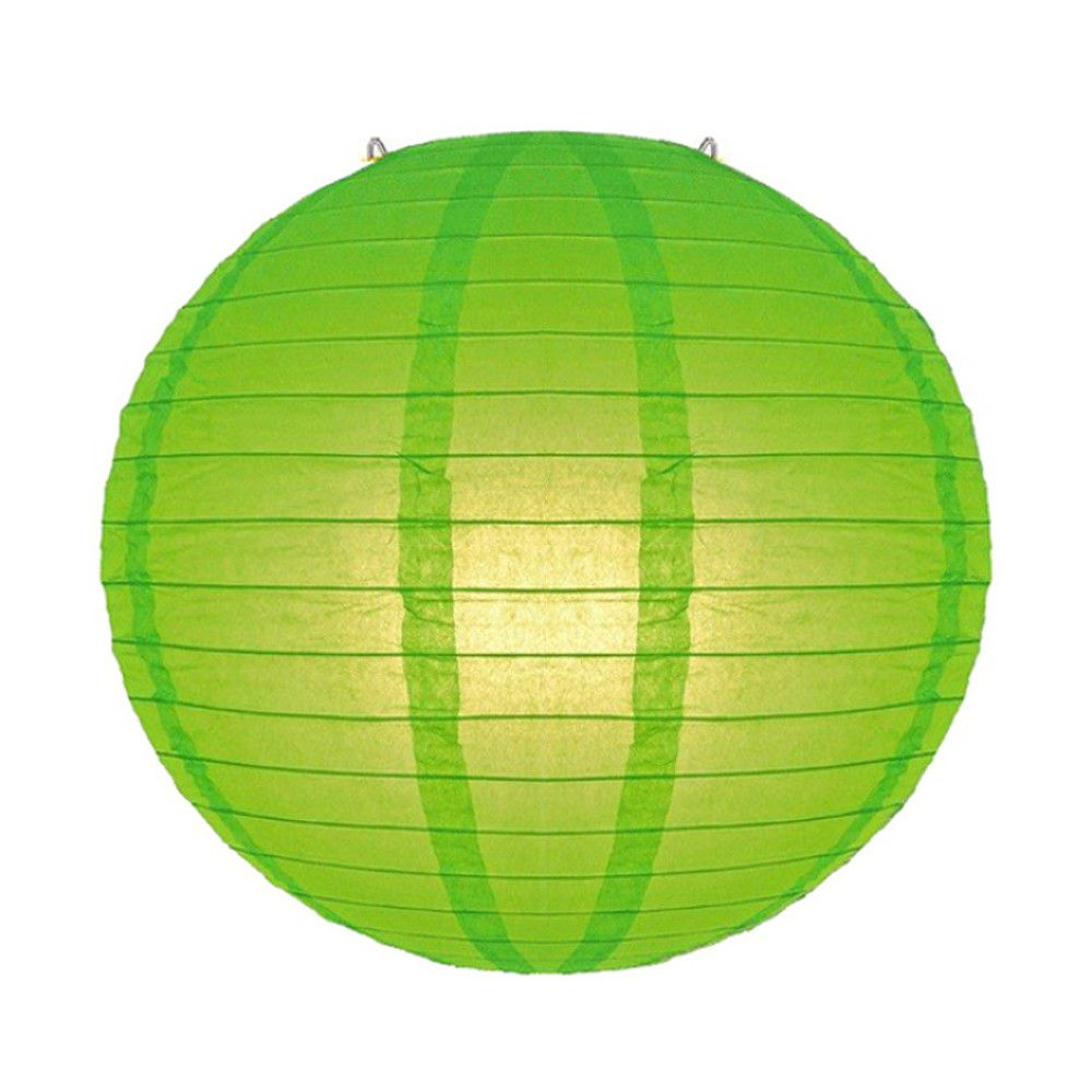 Luminária Oriental Verde Lisa - 40 cm