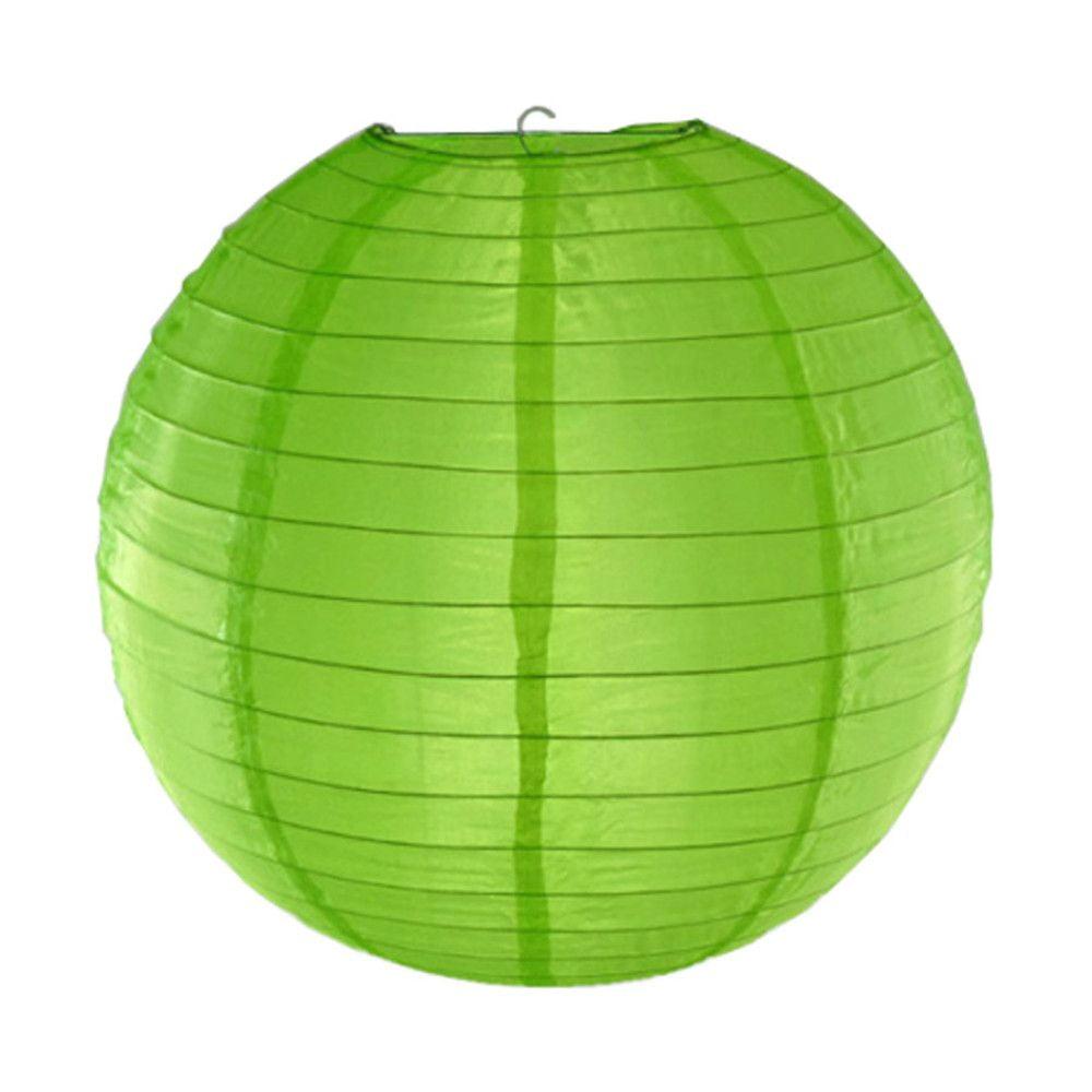 Luminária Oriental Verde Nylon - 40 cm