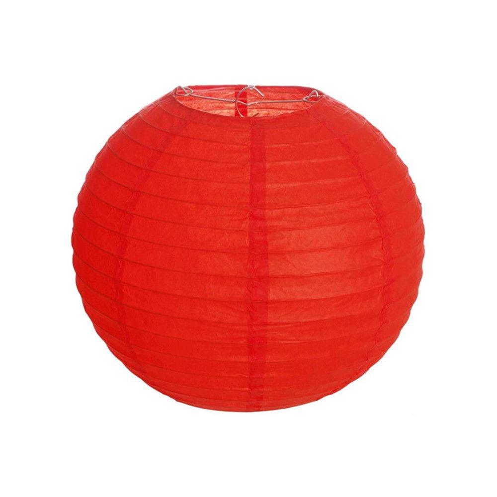 Luminária Oriental Vermelha Lisa - 30 cm