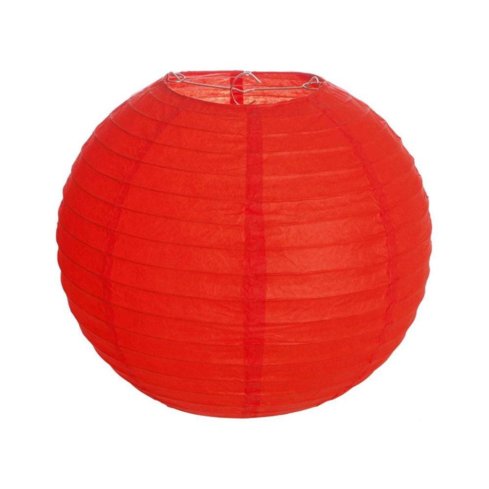 Luminária Oriental Vermelha Lisa - 35 cm