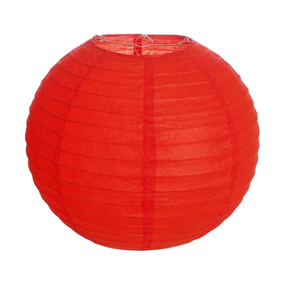 Luminária Oriental Vermelha Lisa - 40 cm
