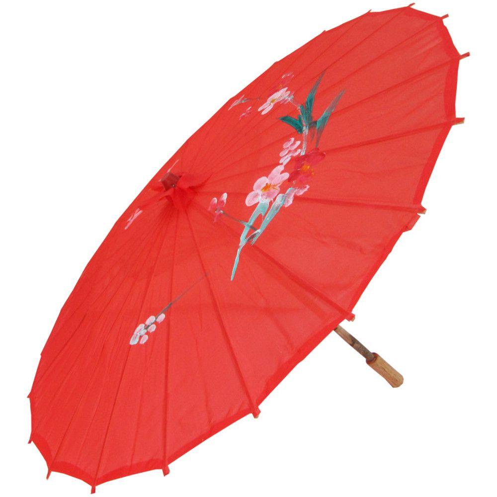 Sombrinha Oriental Vermelha - 83 cm