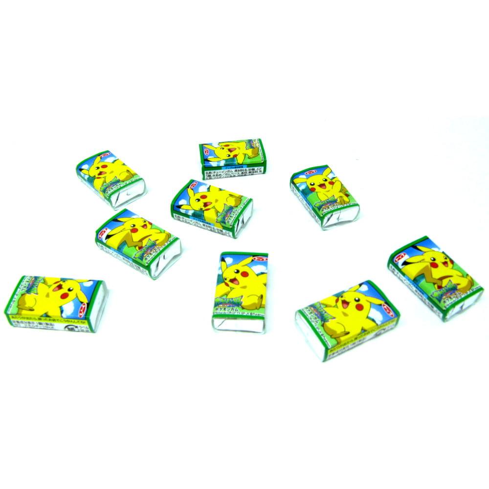 Chiclete Japonês Pokémon Sabor Maça Verde - 10 unidades