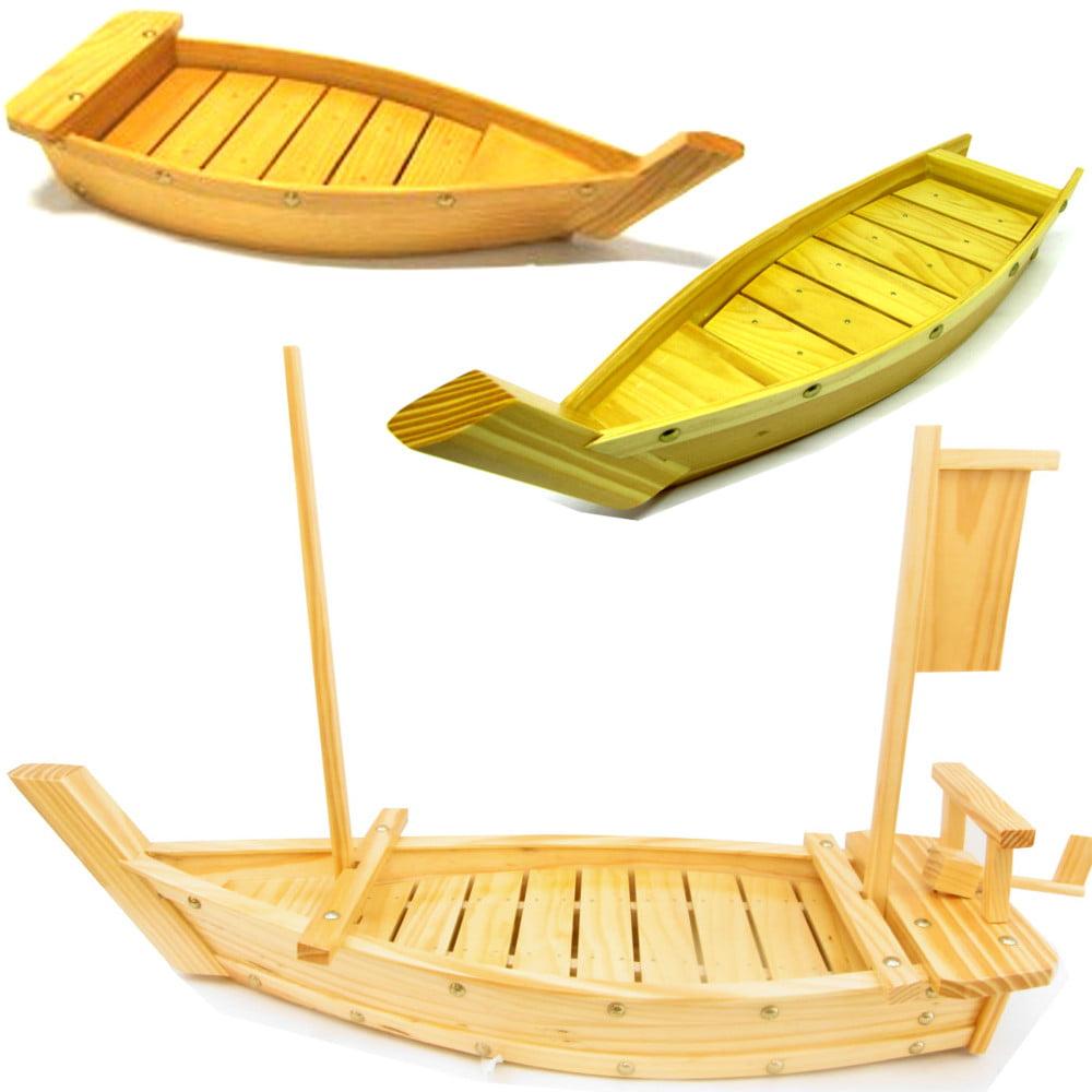 kit Barcas para Servir Sushi Bambu - 3 Modelos